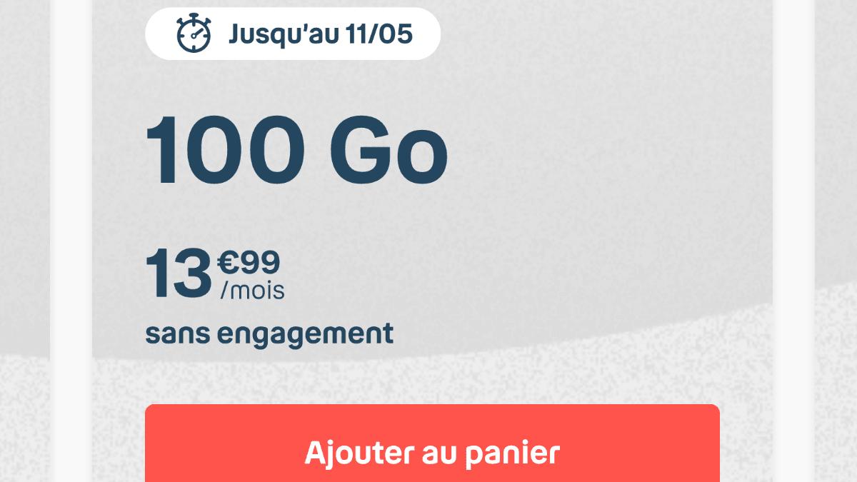 Le forfait mobile Bouygues 100 Go