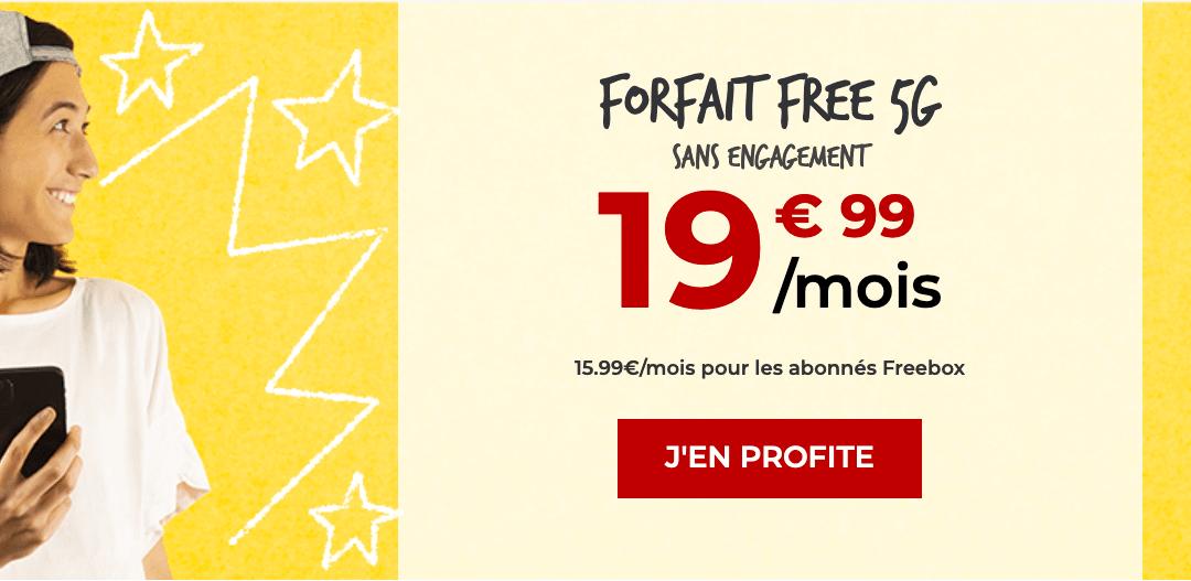 Le Forfait Free 5G