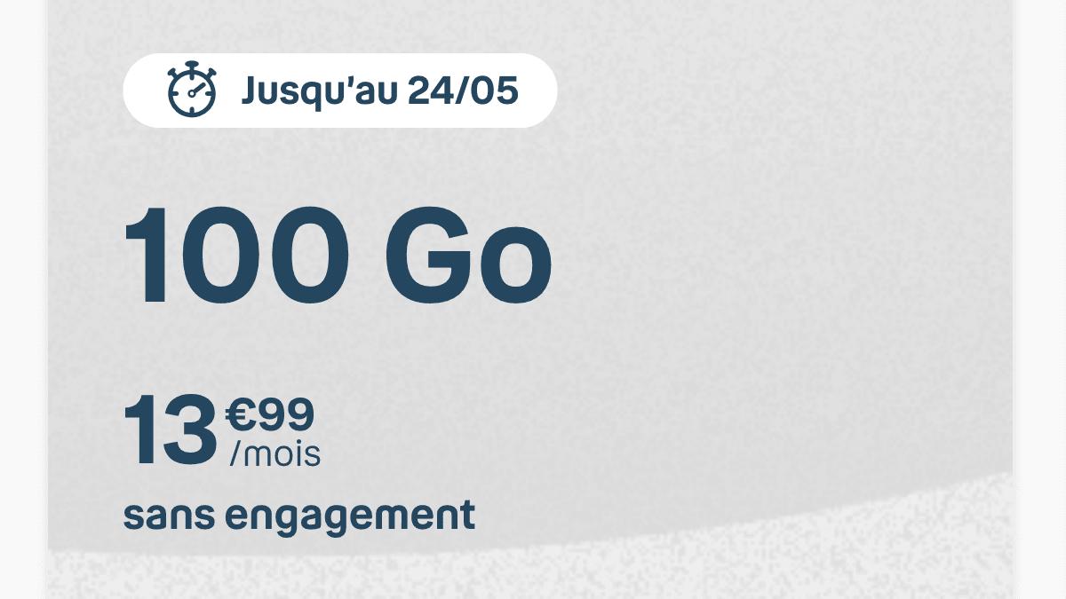 Le forfait mobile 100 Go de B&You.