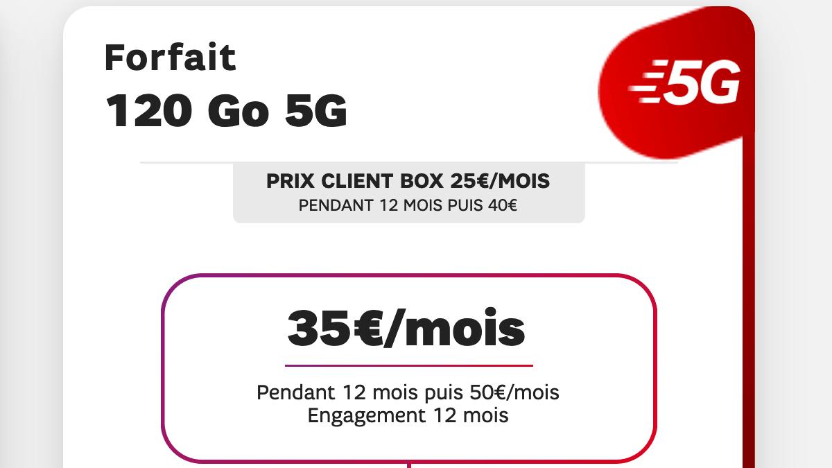 Le forfait mobile 120 Go by SFR