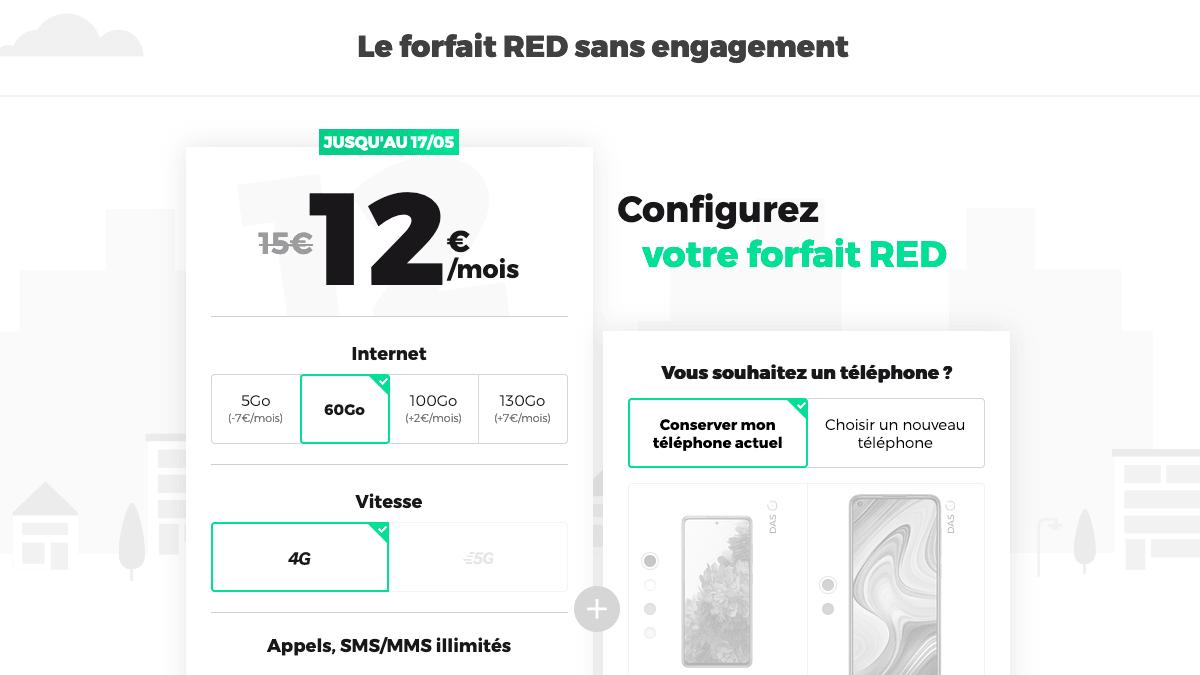 Le forfait mobile 60 GO de RED by SFR