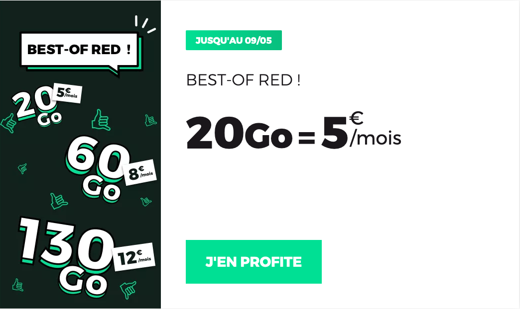 Forfait RED 20 Go
