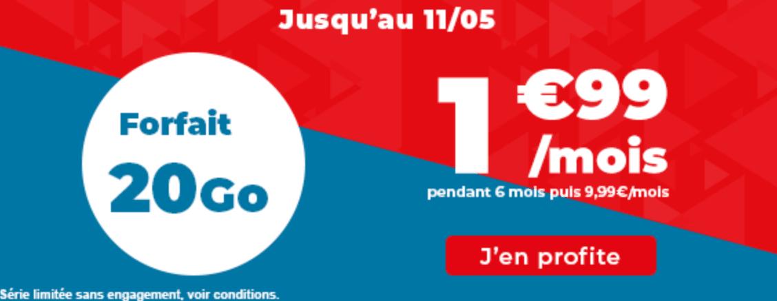Le forfait 20 Go à 1,99€/mois