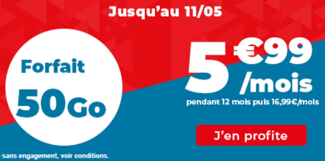 Le forfait 50 Go d'Auchan Telecom