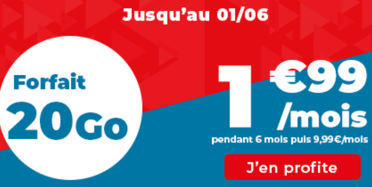 auchan telecom forfait 20 Go