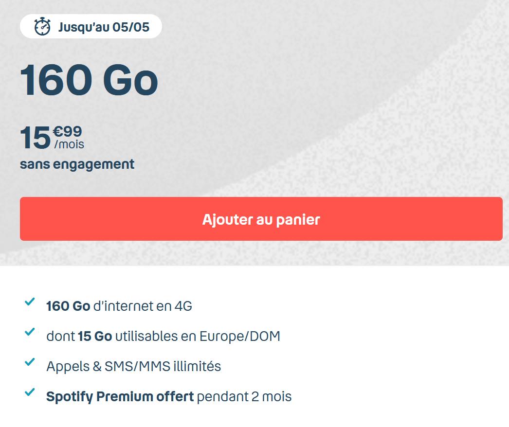 Le forfait 4G en promo
