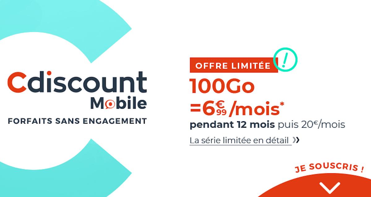 cdiscount mobile 100go
