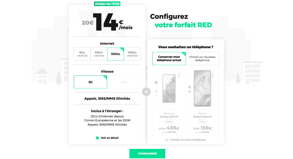 forfait 4G red by sfr