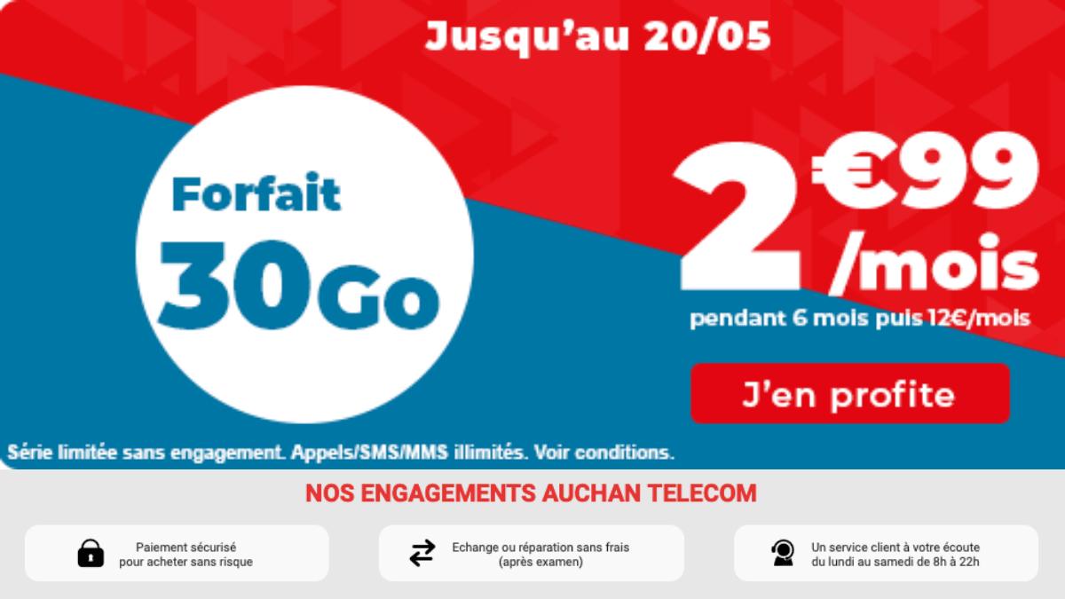forfait 4g auchan telecom