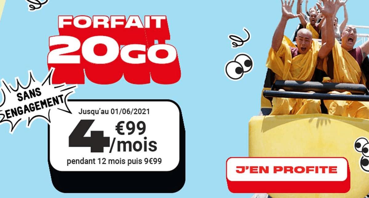 French Days 2021 NRJ Mobile forfait 20 Go