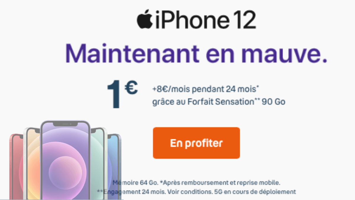 iphone 12 bouygues telecom