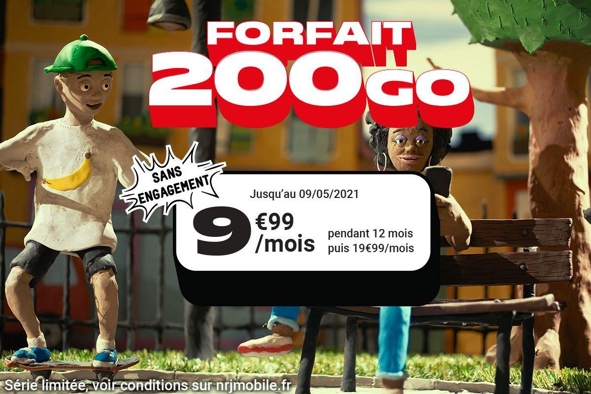 L'offre 200 Go à 9,99€/mois