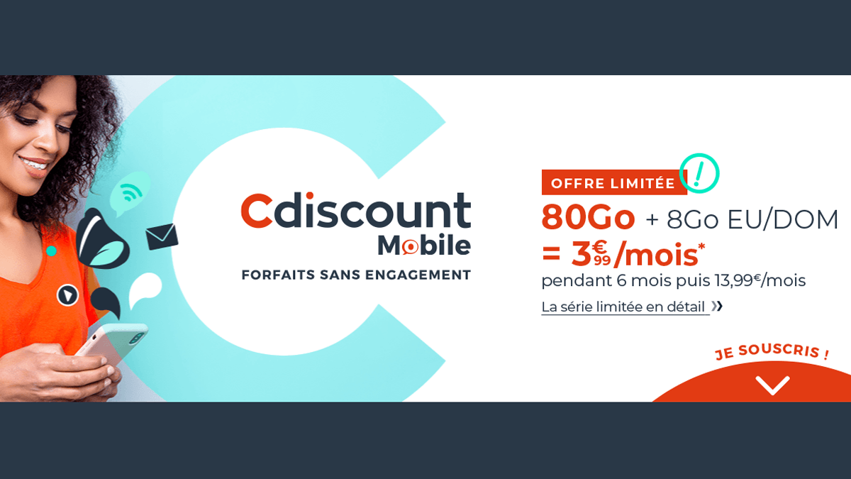Cdiscount Mobile 3,99€
