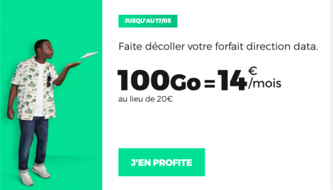 Promo forfait RED by SFR 100 Go.