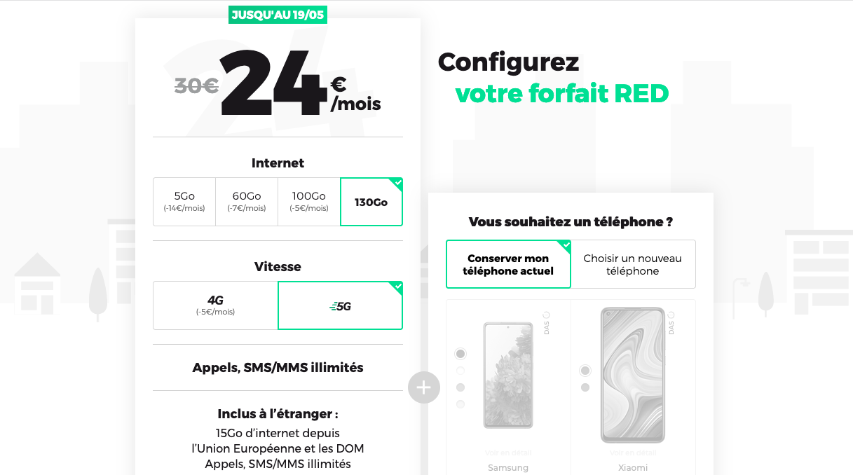 promos red by sfr forfait 5G