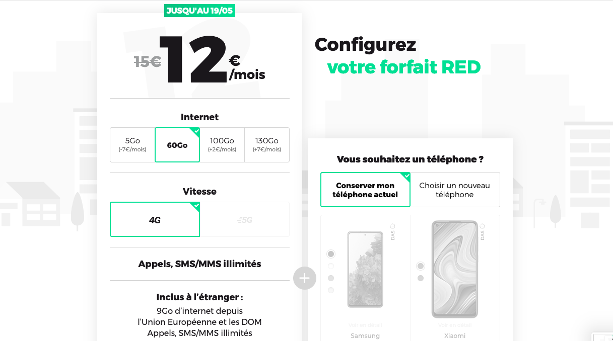 promos red by sfr forfait 60 Go