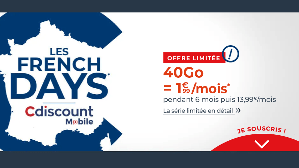 French Days Cdiscount 1,99€