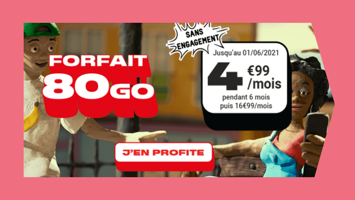 Forfait 80 Go NRJ 4,99€