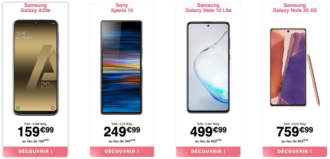 smartphone pas cher nrj mobile