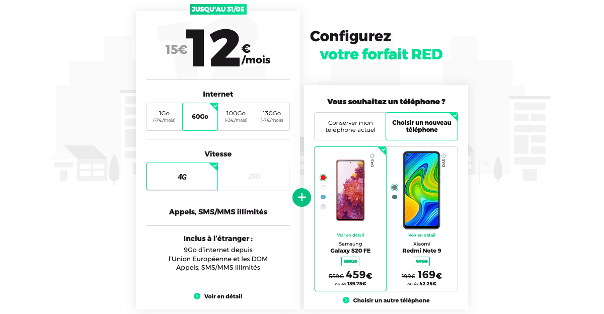 tous les forfaits mobiles red by sfr