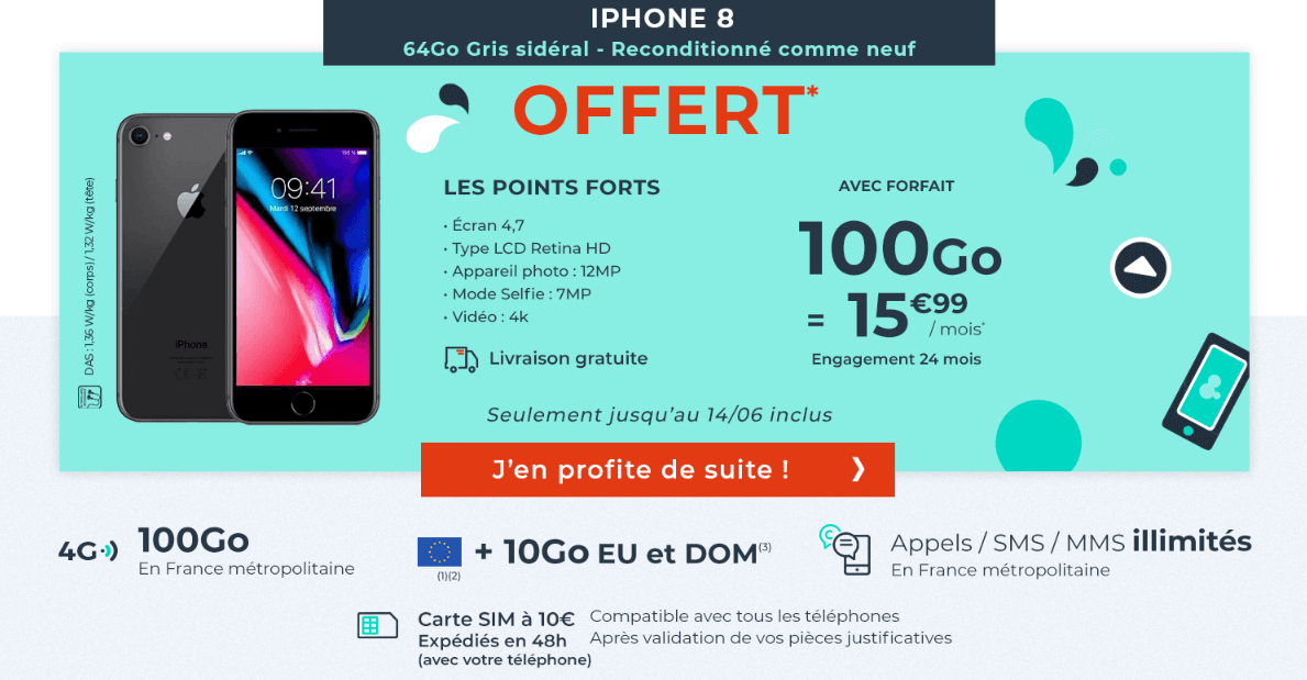 Cdiscount Mobile forfait mobile iPhone