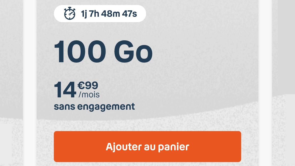 Le forfait 100 Go B&You
