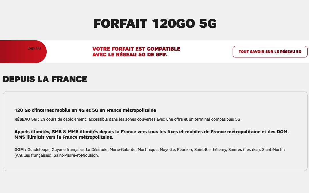 Le forfait 120 Go by SFR