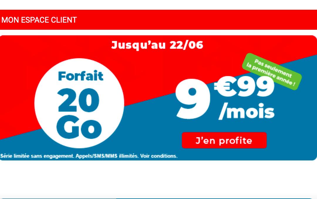 Le forfait 20 Go Auchan Télécom