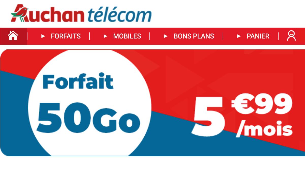 Le forfait Auchan 50 Go