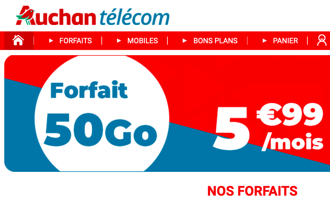 Forfait 50 Go Auchan