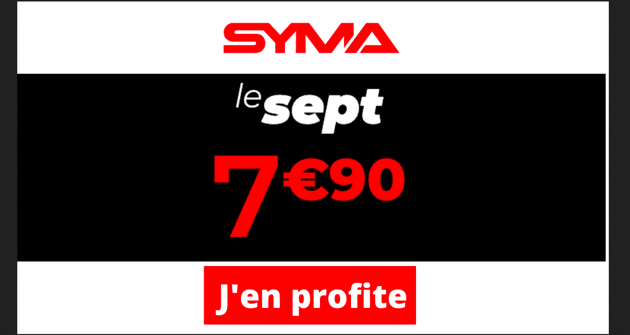Offre spéciale Syma Mobile 80 Go
