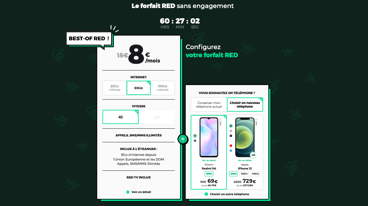 RED by SFR forfait mobile pas cher promo