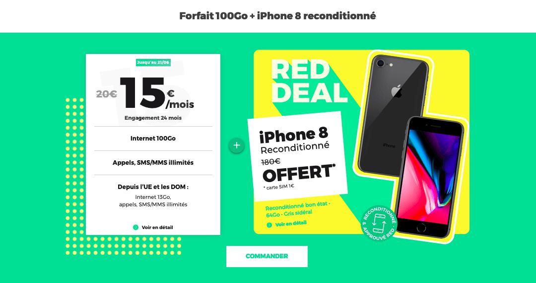 100 Go avec l'iPhone 8 offert