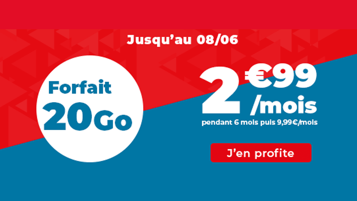 Forfait 20 Go à 2,99€