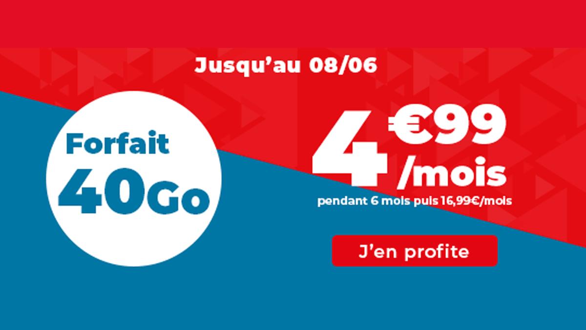 Promo Auchan Telecom 40 Go