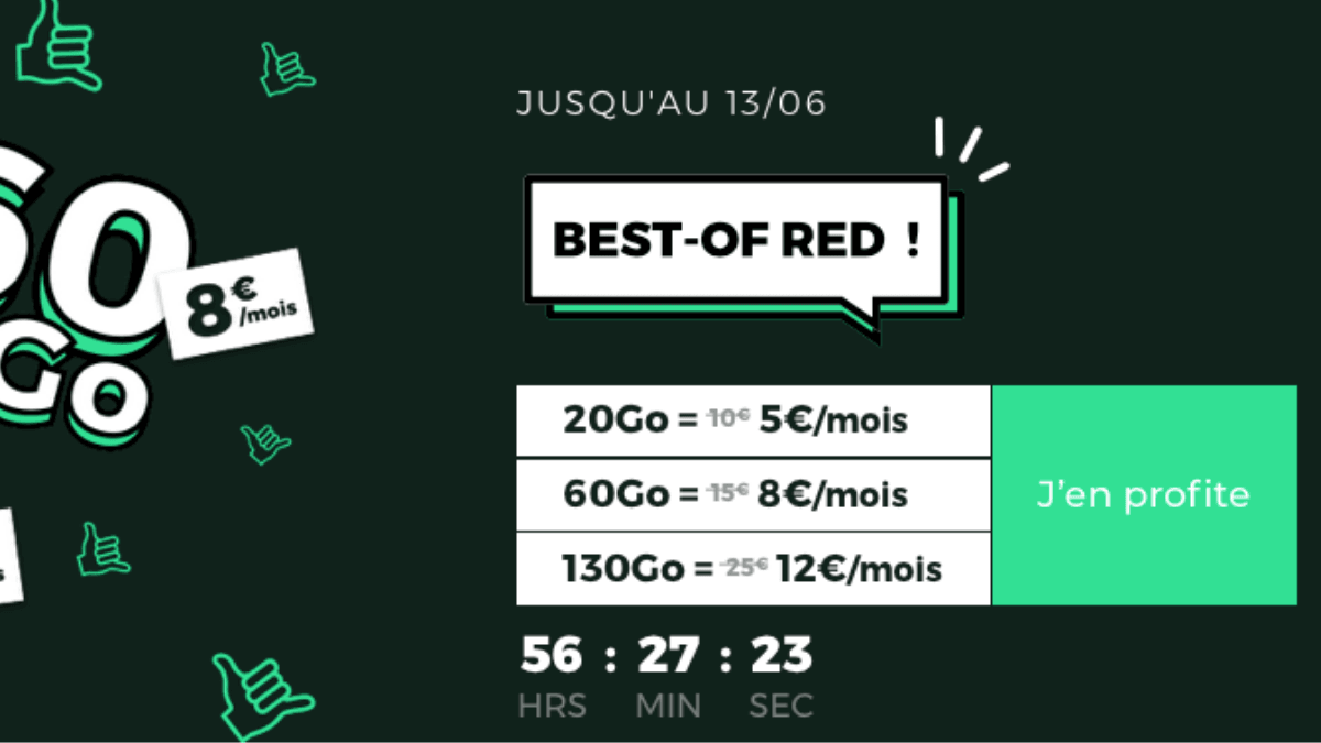 best of red forfait 4g