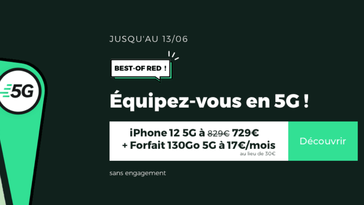 best of red smartphone forfait 5g
