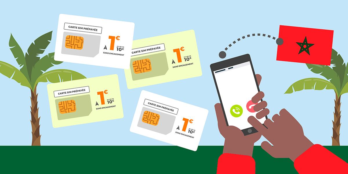 Carte SIM prépayées pour le Maroc