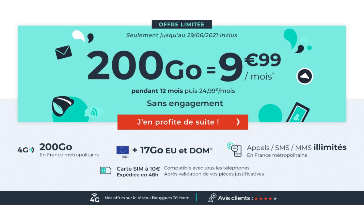 200 Go pour l'offre spéciale Cdiscount Mobile