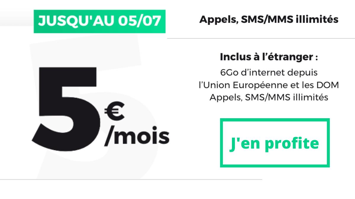 Cinq euros RED