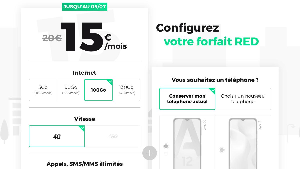 Le bon plan RED by SFR : forfait 100 Go