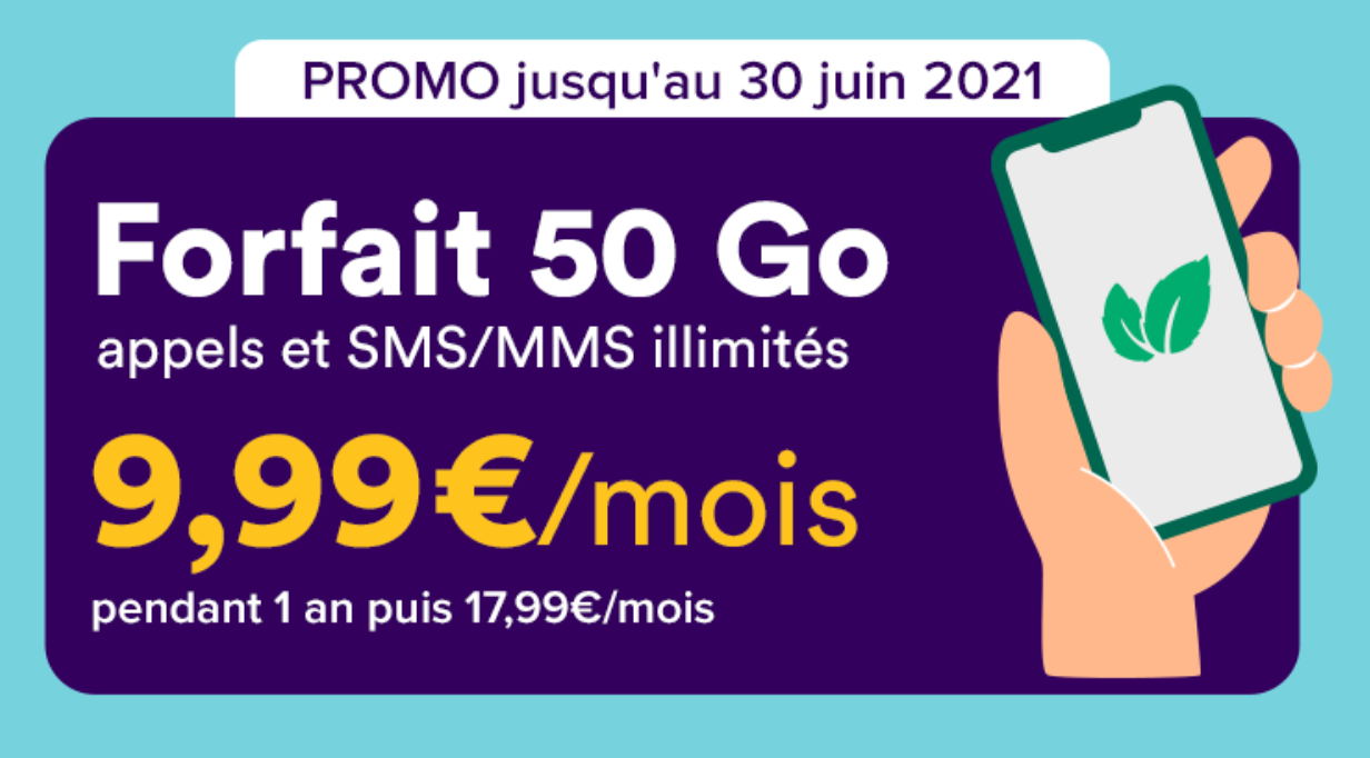 forfait 50 Go mint mobile