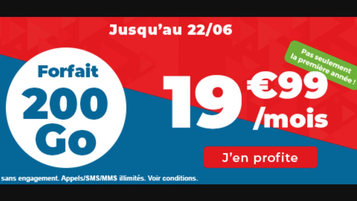 Auchan télécom meilleur forfait 200 Go