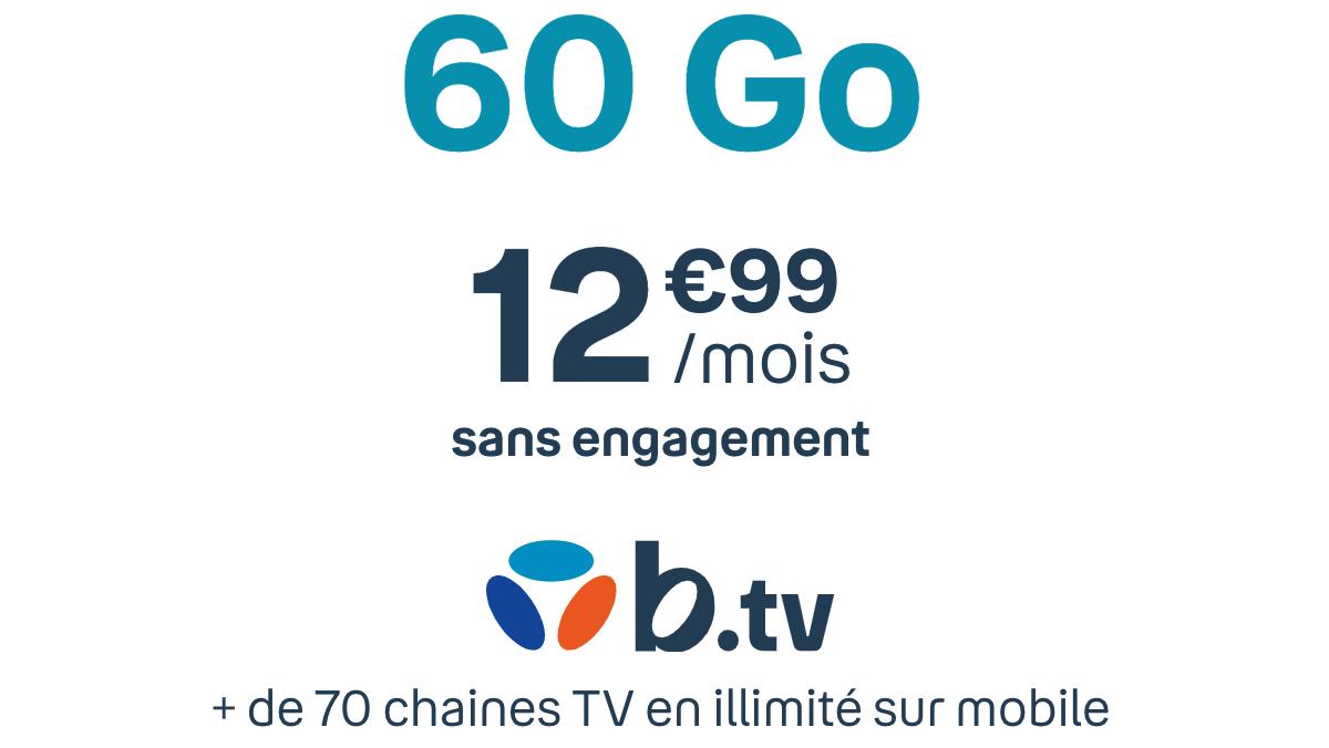 Appli mobile avec TV B.tv