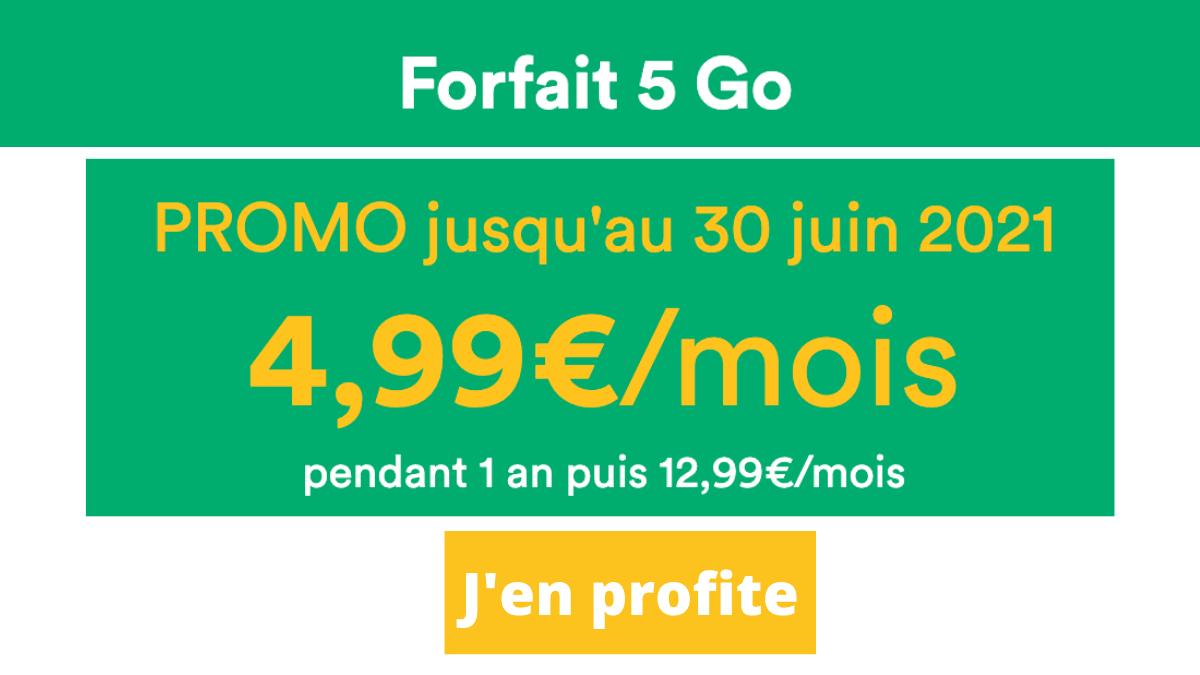 Forfait Mint mobile cinq euros