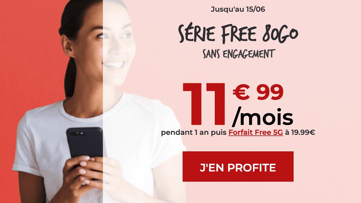 Le forfait mobile 80 Go chez Free