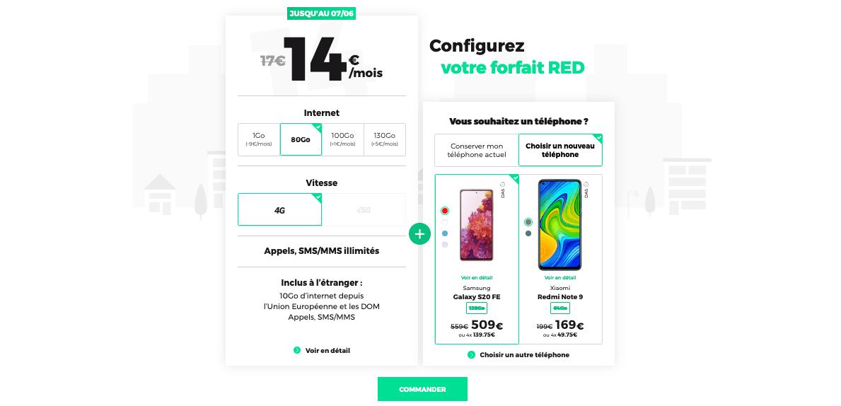 forfait mobile pas cher promo dernier jour red by sfr