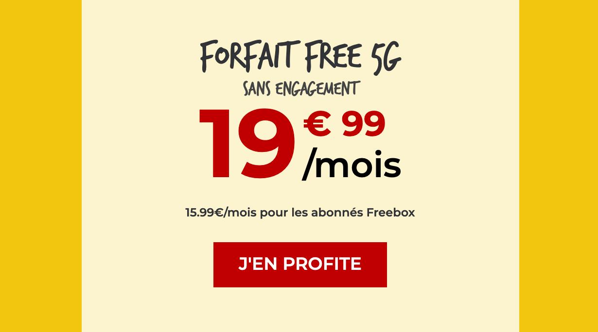 Forfaits 5G Free Mobile