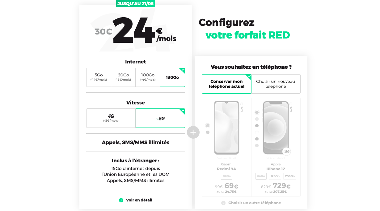 Forfaits 5G RED by SFR