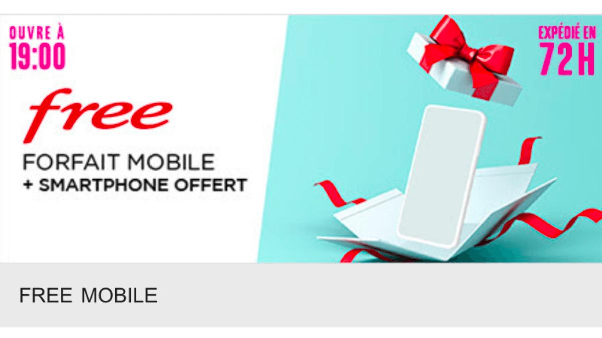 Un smartphone offert chez Free avec Veepee